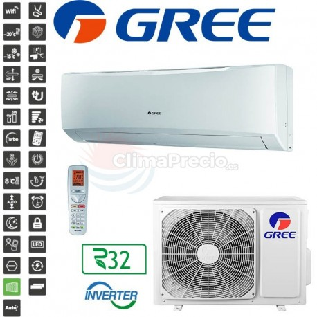 GREE AIR CONDITIONING MANUFACTURERS WARRENTY 2 YEARS  A+++ HOT AND COLD INVERTERS OPTIONAL WIFI MODULE IF REQUIRED Air conditioning machine  Remote control included. Installation included. Low consumption, A ++ energy certificate Inverter technology with heat pump. 2 year warranty on the compressor