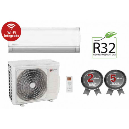 EAS ELECTRIC EMX25 K ADVANCED A ++ 2.6 3 KW COLD CONSUME 0.71 KW 2.93 KW HOT CONSUME 0.74 KW  6.2 /4.9 SEER SCOP    HOT AND COLD INVERTER WiFi integrated 21 dB  SUPPLIED AND INSTALLED STANDARD INSTALLATION  including iva 21%