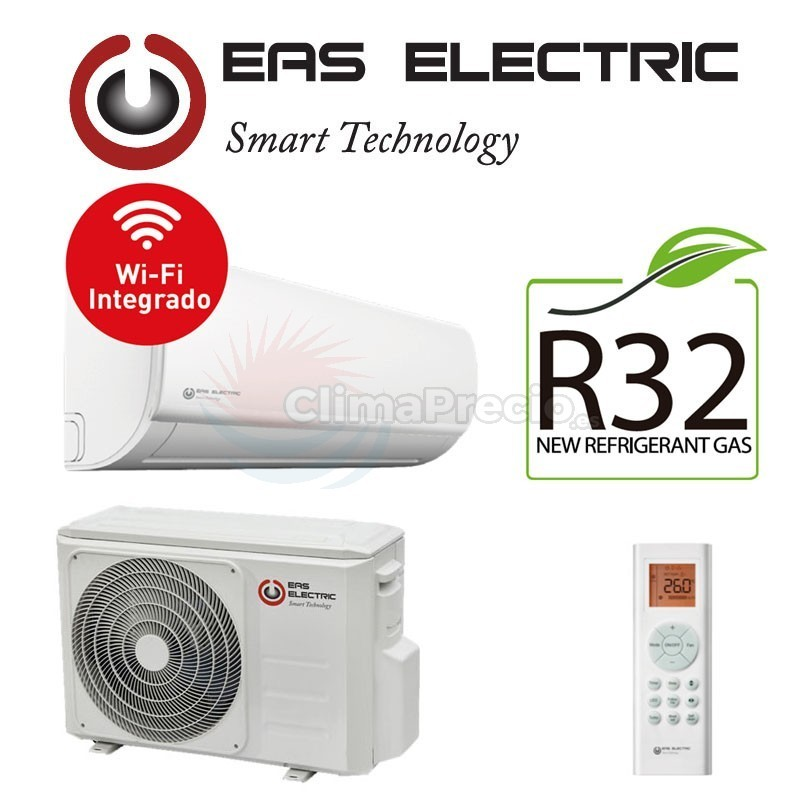 EAS ELECTRIC EMX35 K ADVANCED A ++ 3.51 KW COLD CONSUME 1.23KW 3.81 KW HOT CONSUME 0.96 KW  6.1 /4.6 SEER SCOP    HOT AND COLD INVERTER WiFi integrated 21 dB  SUPPLIED AND INSTALLED STANDARD INSTALLATION  including iva 21%